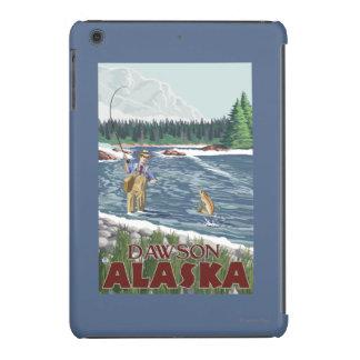 Pescador de la mosca - Dawson, Alaska Fundas De iPad Mini Retina
