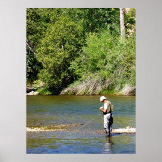 Pescador de la mosca de Idaho Póster