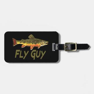 Pescador de la mosca etiquetas de equipaje