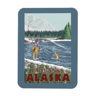 Pescador de la mosca - Fairbanks, Alaska Imán