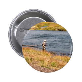 Pescador de la mosca pin redondo 5 cm