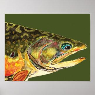 Pescador de la trucha de arroyo poster