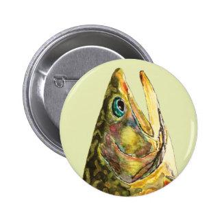 Pescador de la trucha de arroyo pin redondo de 2 pulgadas