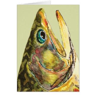 Pescador de la trucha de arroyo tarjeta de felicitación