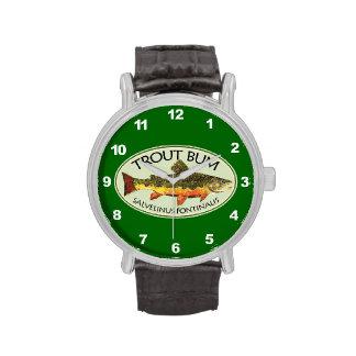 Pescador de la trucha relojes de pulsera
