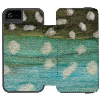 Pescador de los pescados funda billetera para iPhone 5 watson