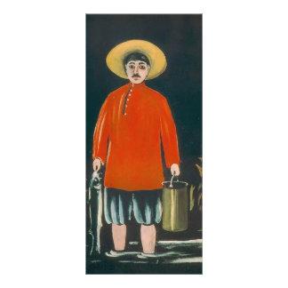 Pescador de Niko Pirosmani- en una camisa roja Tarjeta Publicitaria Personalizada