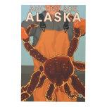 Pescador de rey cangrejo - Anchorage, Alaska Impresión En Madera