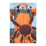 Pescador de rey cangrejo - Anchorage, Alaska Lona Envuelta Para Galerías
