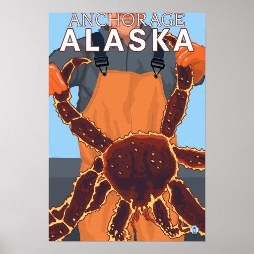 Pescador de rey cangrejo - Anchorage, Alaska Póster