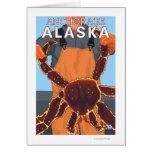 Pescador de rey cangrejo - Anchorage, Alaska Tarjeta De Felicitación