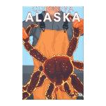 Pescador de rey cangrejo - Cordova, Alaska Impresión En Lona