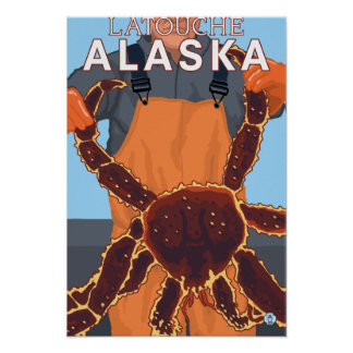 Pescador de rey cangrejo - Latouche, Alaska Posters