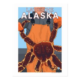 Pescador de rey cangrejo - Latouche, Alaska Postal