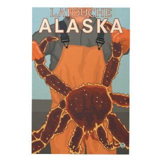 Pescador de rey cangrejo - Latouche, Alaska Cuadro De Madera