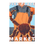 Pescador de rey cangrejo - mercado de lugar de Pik Impresion De Lienzo