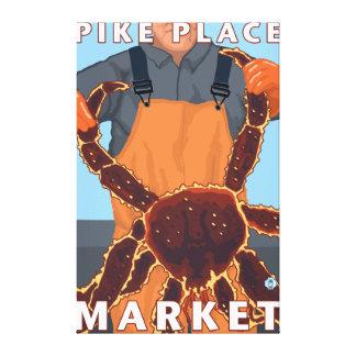 Pescador de rey cangrejo - mercado de lugar de Pik Lona Estirada Galerías
