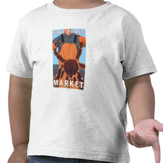 Pescador de rey cangrejo - mercado de lugar de camiseta