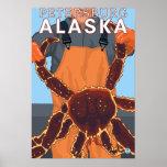 Pescador de rey cangrejo - Petersburgo, Alaska Impresiones