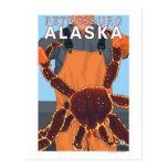 Pescador de rey cangrejo - Petersburgo, Alaska Tarjeta Postal