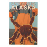 Pescador de rey cangrejo - Petersburgo, Alaska Cuadros De Madera