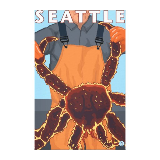 Pescador de rey cangrejo - Seattle, Washington Impresión En Lona