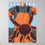 Pescador de rey cangrejo - Seattle, Washington Póster