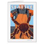 Pescador de rey cangrejo - Seattle, Washington Tarjeta De Felicitación