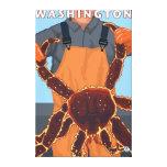 Pescador de rey cangrejo - Washington Impresiones En Lona