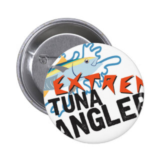 Pescador del atún pin redondo 5 cm