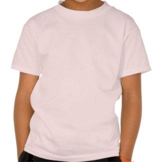 Pescador del chica en el entrenamiento camiseta