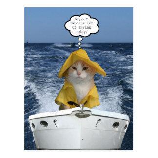 Pescador del EL Gato (pescador del gato) Tarjetas Postales
