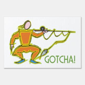 Pescador divertido señales