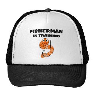Pescador en el entrenamiento gorra