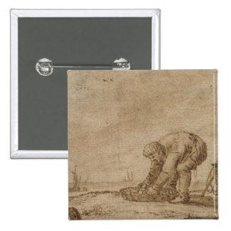 Pescador en la orilla de mar, 1623 pin cuadrado