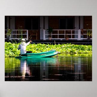 Pescador en Tailandia Poster
