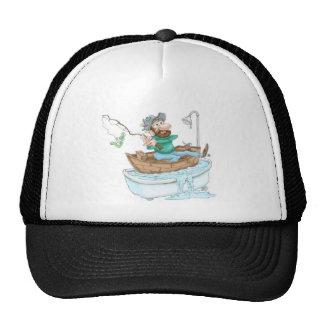 Pescador en una tina gorras