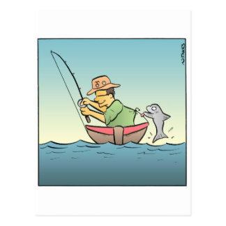 Pescador enganchado postales