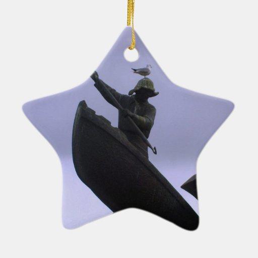 Pescador extremo ornamento para arbol de navidad