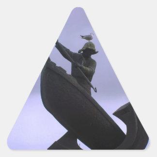 Pescador extremo colcomanias de trianguladas