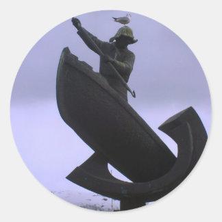 Pescador extremo etiquetas redondas