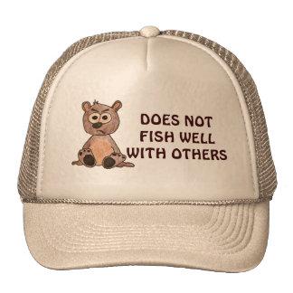 Pescador gruñón gorras de camionero