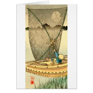 Pescador japonés no.1 tarjeta pequeña