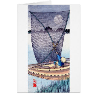 Pescador japonés no.2 tarjeta pequeña