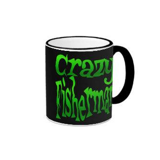 Pescador loco en verde taza de dos colores