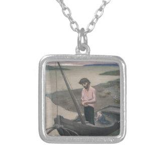 Pescador pobre de Pedro Puvis de Chavannes Collar Plateado