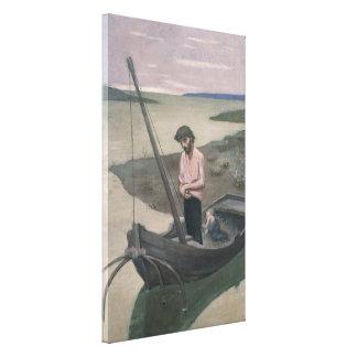 Pescador pobre de Pedro Puvis de Chavannes Lienzo Envuelto Para Galerias