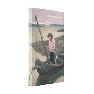 Pescador pobre de Pedro Puvis de Chavannes Impresión De Lienzo