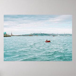 Pescador solitario por el maxwell de Jeremy Impresiones