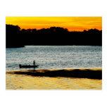 Pescador solo tarjetas postales
